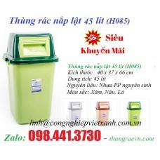 Thùng rác nắp lật 45 lít (H085)
