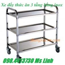 Xe dọn đồ ăn bằng inox call 0984413730 Ms Linh