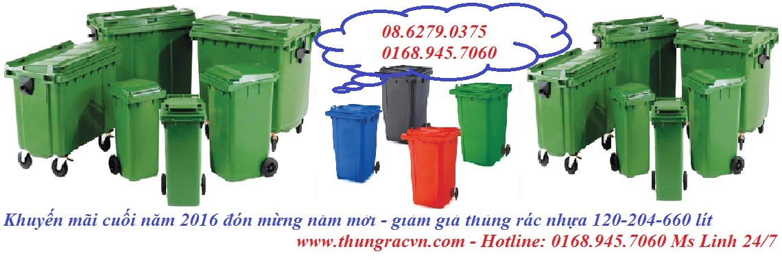 Bán thùng rác nhựa 120L 240L 660L