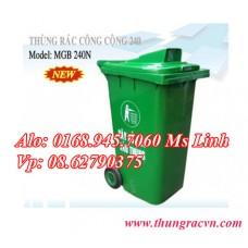 Thùng rác 240 Lít  Nắp hở MGB240N