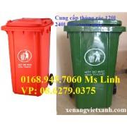 Thùng rác nhựa 240 Lít  VX240 mẫu mới