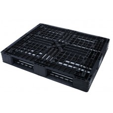 Pallet nhựa đen 1100x1100mm (tải động - tải tĩnh: 1-3 tấn)