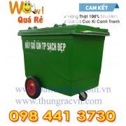 Thùng rác Composite 660 Lít 3 bánh đặc