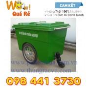 Thùng rác Composite 660 lít 3 bánh hơi