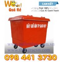 Thùng rác Composite 660 Lít 4 bánh đặc