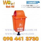 Thùng rác nhựa 55 Lít Composite chân sắt FTR55