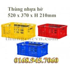 Thùng nhựa hở 520 x 370 x H 210mm
