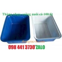 Thùng nhựa vuông nuôi cá 100 lít