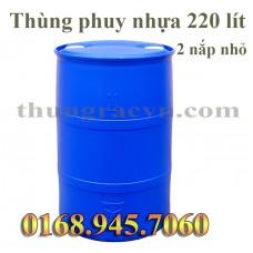 Thùng phuy nhựa 220 lít 2 nắp nhỏ