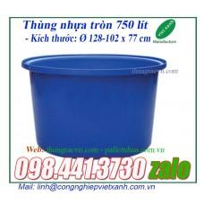 Thùng nhựa tròn 750 lít  TR500