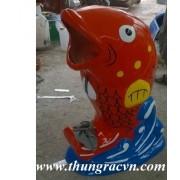 Thùng rác cá chép composite