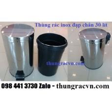 Thùng rác đạp chân inox 30 lít