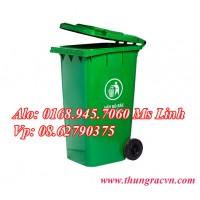 Thùng rác nhựa 240 Lít  nắp kín MGB240K