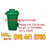 Thùng rác nhựa 120 lít nắp hở mới