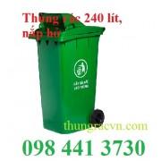 Thùng rác nhựa 240 Lít  nắp hở