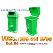 Thùng rác nhựa không bánh xe có đế MGB95N1Đ