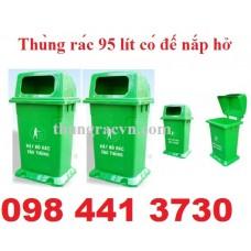 Thùng rác 95 lít có đế nắp hở MGB95N1Đ