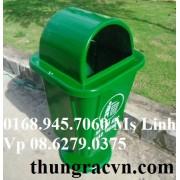 Thùng rác nhựa Composite 55 lít chân nhựa FTR55N