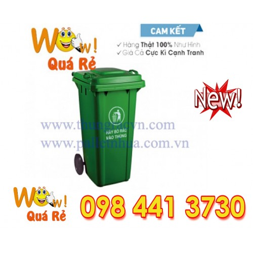thùng rác 120 lit kín