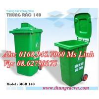 Thùng rác nhựa 120 Lít  MGB140 hở