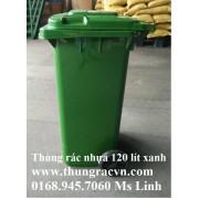 Thùng rác nhựa 120 Lít  VX120 mẫu mới