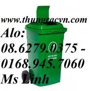 Thùng rác nhựa 150 Lít  nắp kín VX150 mới