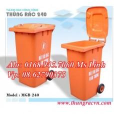 Thùng rác nhựa 240 Lít  MGB240  loại tốt