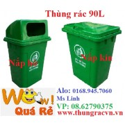 Thùng rác nhựa 90 lít nắp kín, hở MGB90