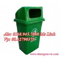 Thùng rác nhựa 90 lít nắp hở