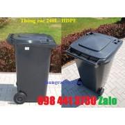 Thùng rác 240 lít màu đen