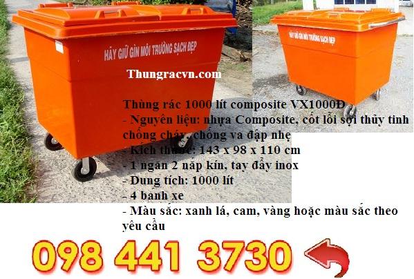 thùng rác 1000L composite