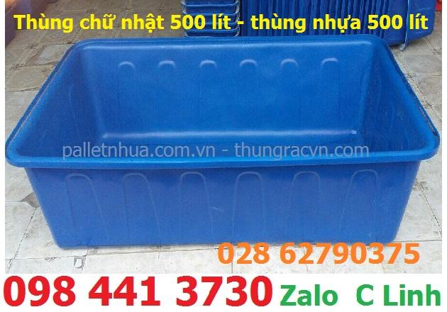 /></h4> <h4>Thùng chữ nhật 200 lít - thùng nhựa 200 lít</h4> <h4>- Kích thước (cm): 91 x 76 x 41<br />- Nguyên liệu: Nhựa chính phẩm<br />- Màu sắc: xanh dương<br />- Xuất xứ: Việt Nam</h4> <h4><img src=
