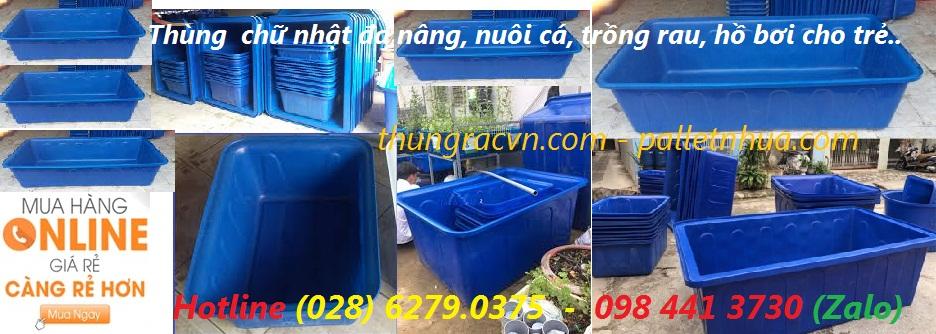 /></h4> <h4>Thùng chữ nhật 100 lít- thùng nhựa 100 lít<br />- Kích thước (cm): 85 x 65 x31<br />- Nguyên liệu: Nhựa chính phẩm<br />- Màu sắc: xanh dương<br />- Xuất xứ: Việt Nam<br /><a rel=