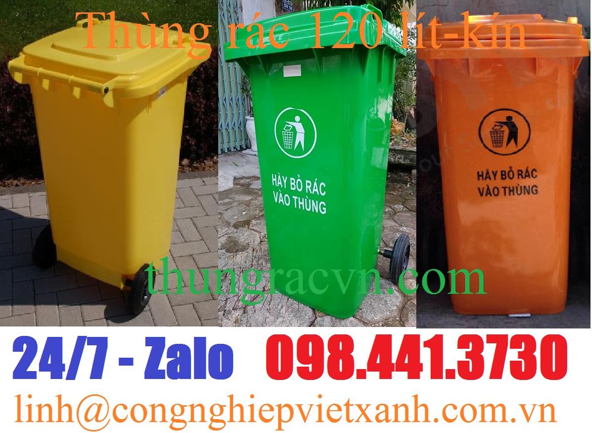 thùng rác 120L-kin