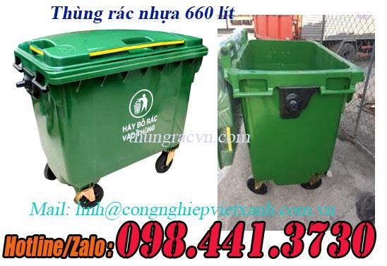 www.123nhanh.com: Thùng rác 660 lít HDPE, thùng rác nhuawjL, thùng rác 660