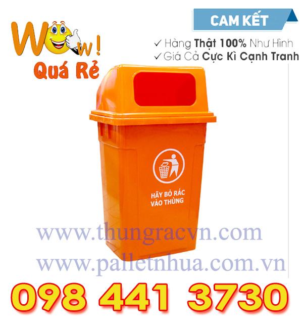 thùng rác nhựa 90 lít hở