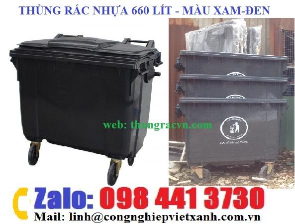 /></h4> <h4>Thùng rác 660 lít HDPElà sản phẩm thùng rác có chất lượng tốt nhất trên thị trường hiện nay vì được làm từ nguyên liệu nhựa HDPE chất lượng cao. Thùng rác 660 lít HDPEvới dung tích lớn chứa được nhiều loại rác thải, điểm nổi bật trong thiết kế chính là có 4 bánh xe di chuyển linh hoạt thu gom rác thải.</h4> <h4><img src=