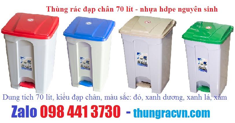 www.kenhraovat.com: Thùng rác 70 lít đạp chân giá khuyến mãi LH 098 4