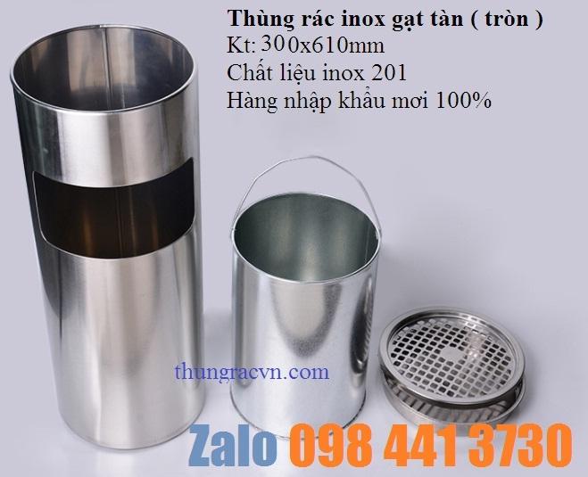 www.123nhanh.com: Thùng rác inox gạt tàn